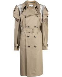 Maison Margiela Deconstructed Cut-out Trench Coat - Natural