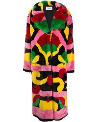 Kirin All-over Print Coat - Yellow