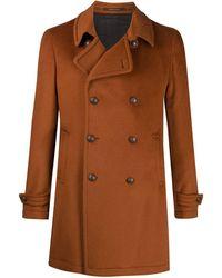 Tagliatore Charlie Double-breasted Coat - Orange