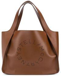 Stella McCartney Perforated Logo Tote Bag - Brown