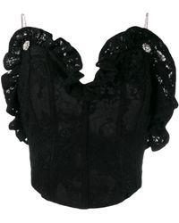 Magda Butrym Lace Corset Top - Black