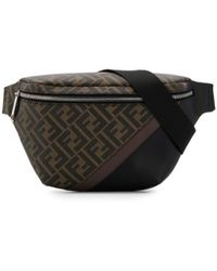 Fendi Ff Pattern Belt Bag - Brown