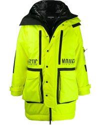 DSquared² Technical Double Layered Coat - Yellow