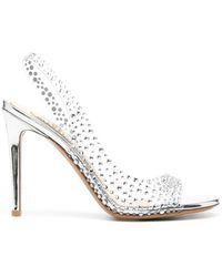 Alexandre Vauthier Clara Crystal-embellished Sandals - Metallic