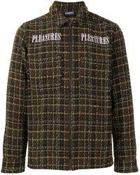 Pleasures Logo-print Tweed Overshirt - Multicolor