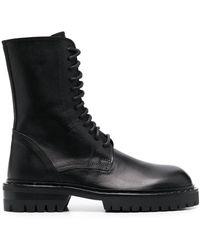 Ann Demeulemeester Stud-detail Ankle Boots - Black
