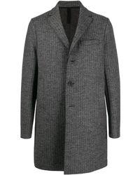 Harris Wharf London Midi Single Breasted Coat - Grey