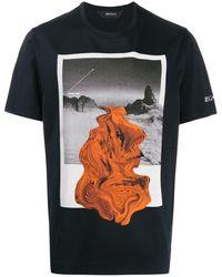 Z Zegna Abstract Print T-shirt - Blue