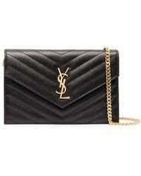 Saint Laurent Envelope Crossbody Bag - Black