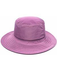Catarzi Wide-brim Bucket Hat - Purple