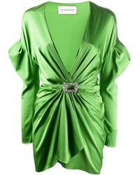 Alexandre Vauthier Long-sleeve Mini Dress - Green