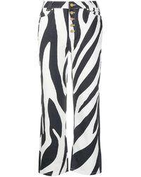 House Of Sunny Zebra Print Jeans - Black