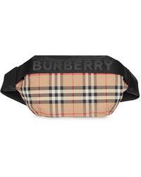 Burberry Medium Vintage Check Belt Bag - Black