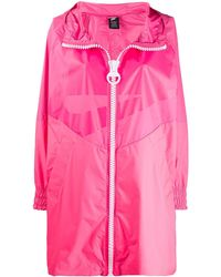 Nike Oversized Hooded Rain Coat - Pink
