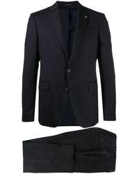 Tagliatore Two-piece Virgin Wool Suit - Blue