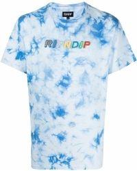 RIPNDIP Prisma Embroidered Cotton T-shirt - Blue