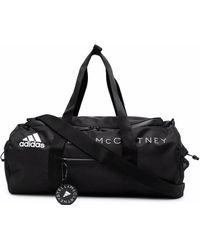 adidas By Stella McCartney Logo-print Zipped Gym Bag - Black