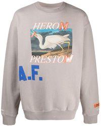 Heron Preston Graphic-print Long-sleeved Sweatshirt - Multicolour