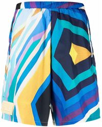 Formy Studio Abstract-pattern Print Shorts - Blue