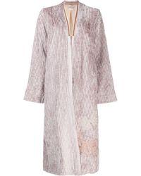 Forte Forte Draped Cardi-coat - Pink