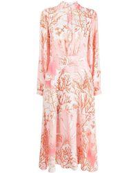 Stella McCartney Coral-print Maxi-dress - Pink