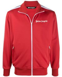 Palm Angels Logo Print Track Jacket - Red
