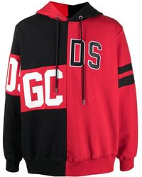Gcds Colour-block Hoodie - Red