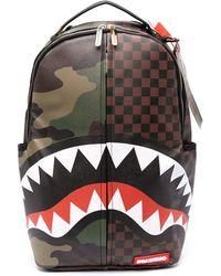 Sprayground Camouflage-print Backpack - Brown