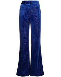 Alice McCALL - Velvet-sparkle Flared Trousers - Lyst