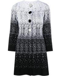 Charlott Gradient Knitted Coat - White