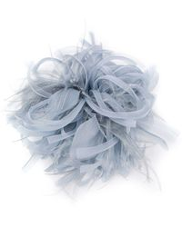 Max Mara Feather Embellished Hair Clip - Blue