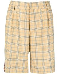 Daily Paper Checked Shorts - Yellow