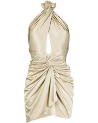 Alexandre Vauthier Gathered Halterneck Mini Dress - Natural