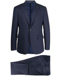 Tagliatore Single-breasted Wool Suit - Blue