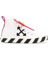 Off-White c/o Virgil Abloh Mid Top Vulcanised Sneaker - White