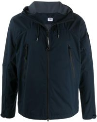 C P Company Front Zip Hooded Jacket - Blue