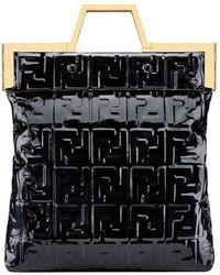 Fendi Ff Logo Shopper - Black