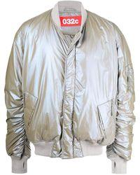 032c Metallic-effect Padded Bomber Jacket - Gray