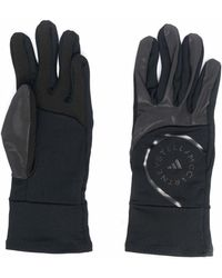 adidas X Stella Mccartney Logo Print Gloves - Black