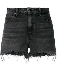 Alexander Wang Raw-hem Denim Shorts - Black