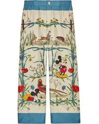 Gucci X Disney Pajama Pants - Green