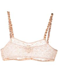 Forte Forte Sheer Lace Bra - Pink