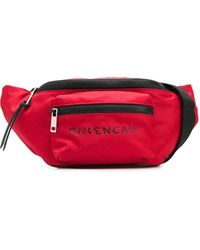 Givenchy Logo Print Belt Bag - Red