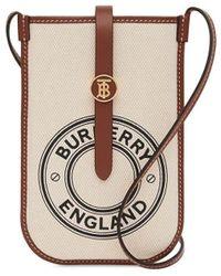 Burberry Anne Logo Graphic Print Phone Case - Brown
