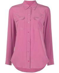 Equipment Flap-pocket Shirt - Pink