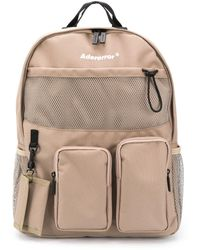 ADER error Logo-print Multiple-pocket Backpack - Brown