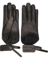 Off-White c/o Virgil Abloh Zip-tie Detail Gloves - Black