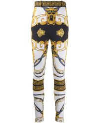 Versace Barocco Rodeo Print Skinny Trousers - Black