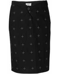 Coperni Cross-pattern Pencil Skirt - Black