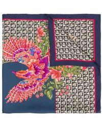 Ferragamo Printed Foulard Scarf - Multicolour